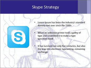 Sketch, comics style female PowerPoint Template - Slide 8
