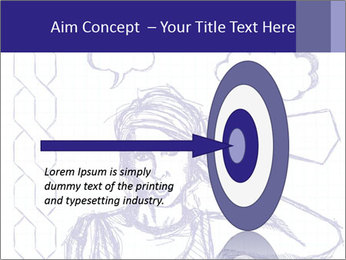 Sketch, comics style female PowerPoint Template - Slide 83