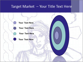Sketch, comics style female PowerPoint Template - Slide 84