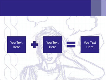 Sketch, comics style female PowerPoint Template - Slide 95