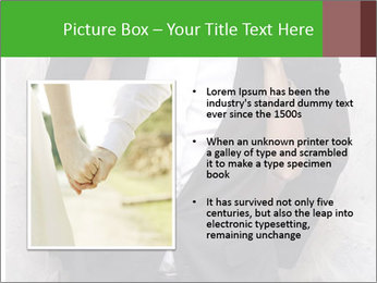 Getting Ready. Woman adjusting man's bow tie PowerPoint Template - Slide 13
