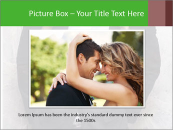 Getting Ready. Woman adjusting man's bow tie PowerPoint Template - Slide 15