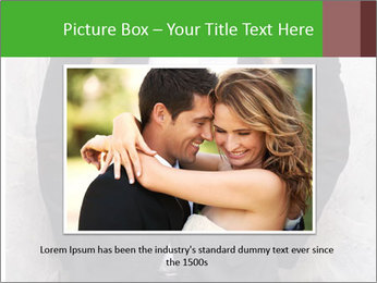 Getting Ready. Woman adjusting man's bow tie PowerPoint Template - Slide 16