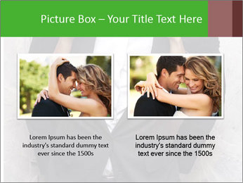 Getting Ready. Woman adjusting man's bow tie PowerPoint Template - Slide 18