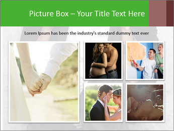 Getting Ready. Woman adjusting man's bow tie PowerPoint Template - Slide 19