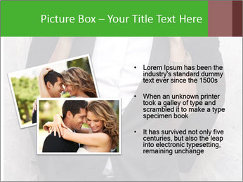 Getting Ready. Woman adjusting man's bow tie PowerPoint Template - Slide 20