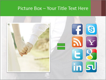 Getting Ready. Woman adjusting man's bow tie PowerPoint Template - Slide 21