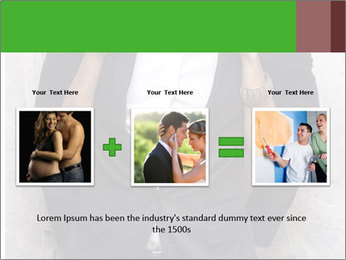 Getting Ready. Woman adjusting man's bow tie PowerPoint Template - Slide 22