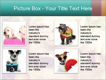 A cute chihuahua with a mustache finger in front of him done PowerPoint Templates - Slide 14