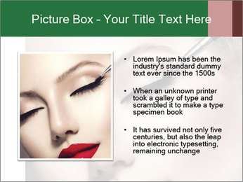 Retro styled Woman. Eyeline brush for Make up PowerPoint Template - Slide 13