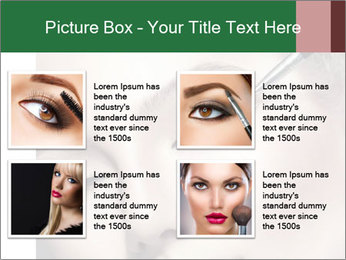 Retro styled Woman. Eyeline brush for Make up PowerPoint Template - Slide 14