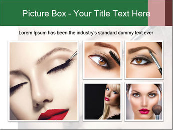 Retro styled Woman. Eyeline brush for Make up PowerPoint Templates - Slide 19