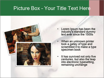 Retro styled Woman. Eyeline brush for Make up PowerPoint Template - Slide 20