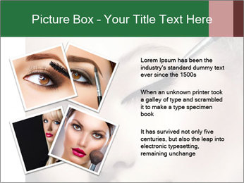 Retro styled Woman. Eyeline brush for Make up PowerPoint Templates - Slide 23