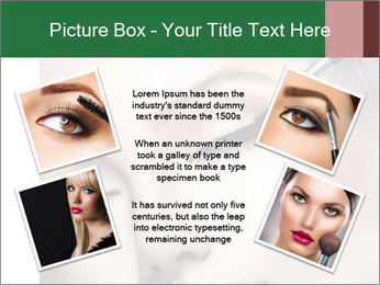 Retro styled Woman. Eyeline brush for Make up PowerPoint Templates - Slide 24