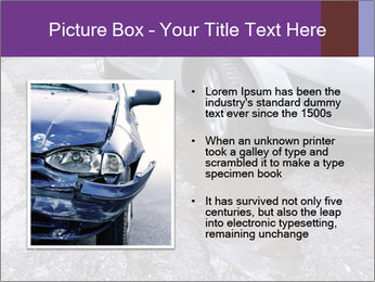 Damaged road full of cracked PowerPoint Template - Slide 13