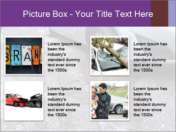 Damaged road full of cracked PowerPoint Template - Slide 14