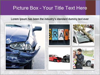 Damaged road full of cracked PowerPoint Template - Slide 19