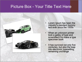 Damaged road full of cracked PowerPoint Template - Slide 20