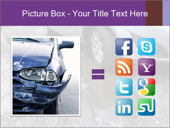 Damaged road full of cracked PowerPoint Template - Slide 21