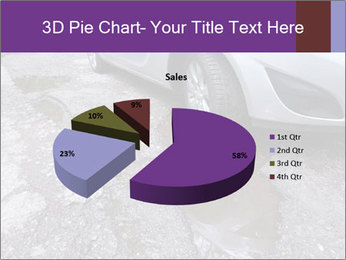 Damaged road full of cracked PowerPoint Template - Slide 35