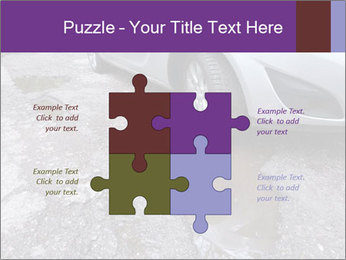 Damaged road full of cracked PowerPoint Template - Slide 43