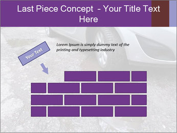 Damaged road full of cracked PowerPoint Template - Slide 46