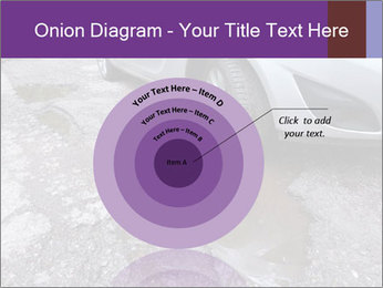 Damaged road full of cracked PowerPoint Template - Slide 61