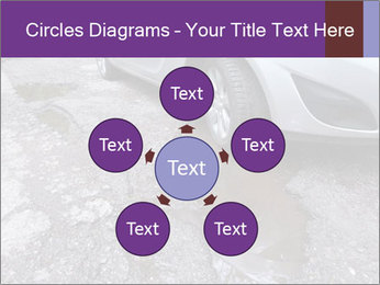 Damaged road full of cracked PowerPoint Template - Slide 78