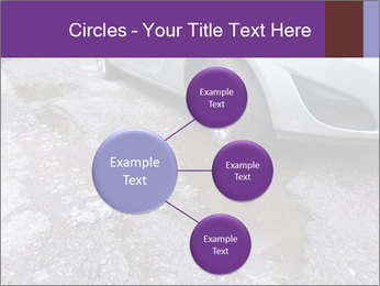 Damaged road full of cracked PowerPoint Templates - Slide 79
