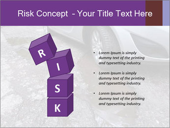 Damaged road full of cracked PowerPoint Template - Slide 81