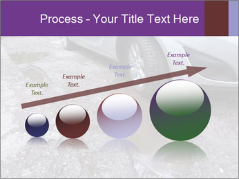 Damaged road full of cracked PowerPoint Template - Slide 87