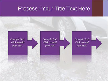 Damaged road full of cracked PowerPoint Template - Slide 88
