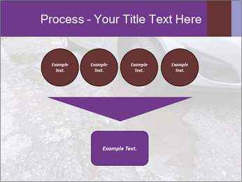 Damaged road full of cracked PowerPoint Template - Slide 93