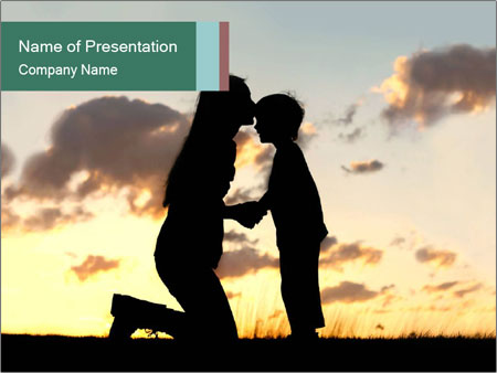 Sunset in the sky. PowerPoint Template