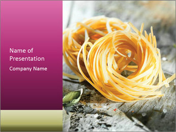Italian linguine or tagliatelli pasta PowerPoint Templates - Slide 1