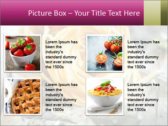 Italian linguine or tagliatelli pasta PowerPoint Templates - Slide 14