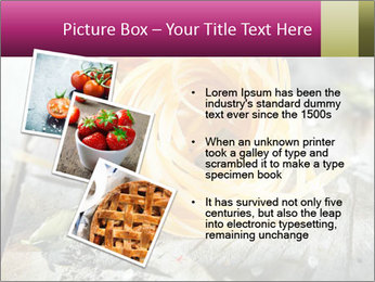 Italian linguine or tagliatelli pasta PowerPoint Templates - Slide 17