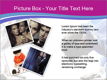 Two judokas fighters fighting men PowerPoint Template - Slide 23