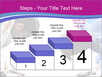Two judokas fighters fighting men PowerPoint Template - Slide 64