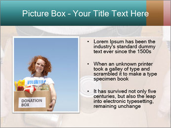 A man holding a cardboard box PowerPoint Template - Slide 13
