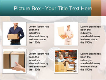 A man holding a cardboard box PowerPoint Template - Slide 14