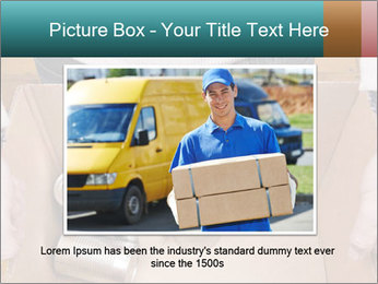 A man holding a cardboard box PowerPoint Template - Slide 16