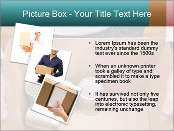 A man holding a cardboard box PowerPoint Template - Slide 17