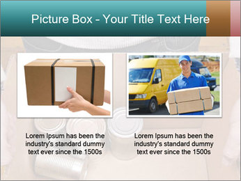 A man holding a cardboard box PowerPoint Template - Slide 18
