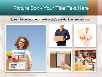 A man holding a cardboard box PowerPoint Template - Slide 19