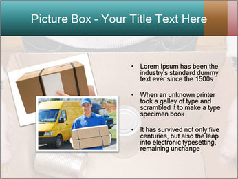 A man holding a cardboard box PowerPoint Template - Slide 20
