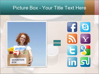 A man holding a cardboard box PowerPoint Template - Slide 21