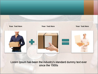 A man holding a cardboard box PowerPoint Template - Slide 22
