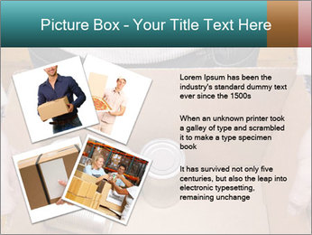 A man holding a cardboard box PowerPoint Template - Slide 23